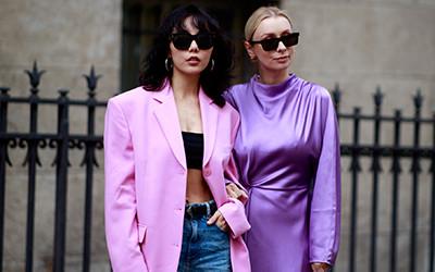 Street style на Неделе Высокой моды в Париже осень-зима 2021-2022