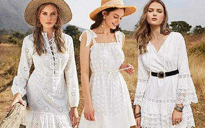 Выбираем короткое белое платье на лето не дороже 27$