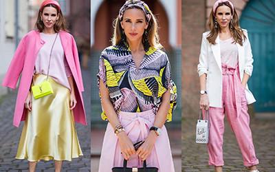 Сочетаем яркие цвета в одежде вместе с модницей Alexandra Lapp