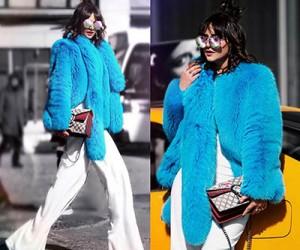 Яркие шубы. Примеры на модных блогерах.