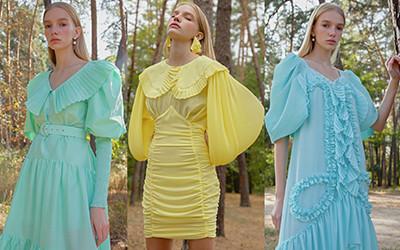 Изящные и женственные наряды Nadya Dzyak весна-лето 2021