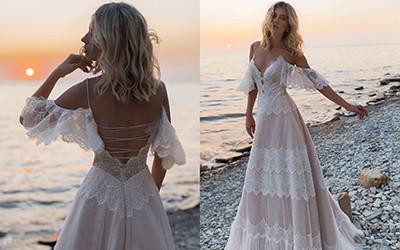 Свадебные платья в стиле бохо-шик Anna Kuznetcova 2019