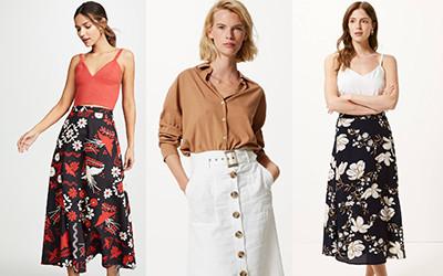 Выбираем модную юбку-миди на весну 2019