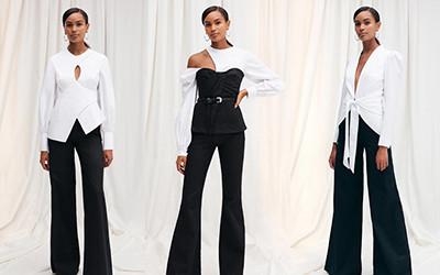 Чёрно-белая классика в стильных комплектах одежды Safiyaa 2021
