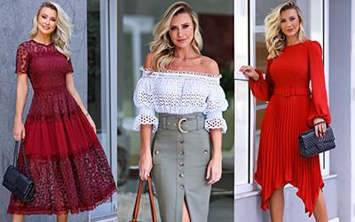 Женственные образы в платьях и юбках от Ana Paula Siebert Justus