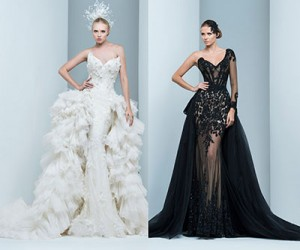 Свадебные и вечерние платья Marwan & Khaled Haute Couture осень-зима 2015-2016