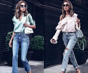 Блузка и рубашка с джинсами - 20 примеров на модных блогерах