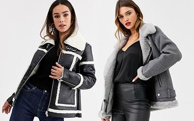 Выбираем стильную женскую куртку-авиатор с искусственным мехом