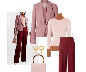 Офисный стиль женской одежды в сетах