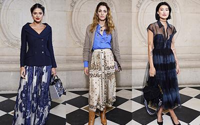 Красивые гостьи показа Dior Haute Couture весна-лето 2020