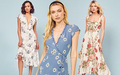 10 платьев в цветочный принт от бренда Reformation