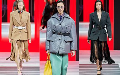 Строгие женские жакеты и стильные куртки на осень из коллекции Prada 2020
