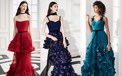 Коктейльные и вечерние платья Marchesa Notte осень-зима 2019-2020