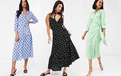 Выбираем модные платья в горошек не дороже 100 $