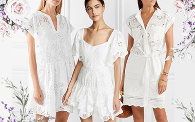 Выбираем летнее белое мини платье 2019