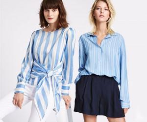 Модные полосатые блузки и рубашки. Выбираем из 10 вариантов.