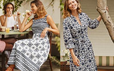 Красивые женственные платья из натуральных тканей Boden 2021