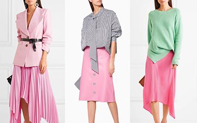 10 весенних образов с розовой юбкой
