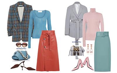 Модные сеты с юбкой-миди: для работы, для учёбы, для свиданий