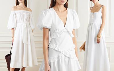 Выбираем белые хлопковые платья на весенне-летний сезон 2020