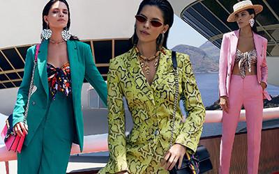 Яркая женская одежда Pinko весна-лето 2019