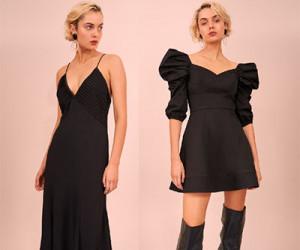 Черные вечерние платья из коллекции C/Meo Collective осень-зима 2018-2019