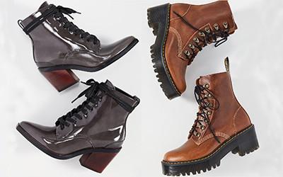 Выбираем стильные сапоги и ботинки на шнуровке
