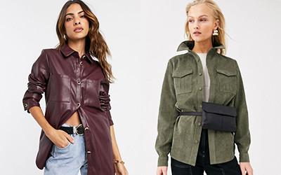 5 стильных и недорогих женских рубашек oversize с карманами