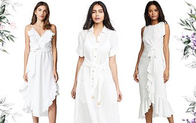 Идеальные белые платья длины миди для весенне-летнего сезона 2019