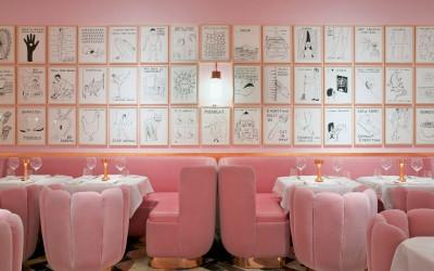 Модный all-in-pink ресторан Sketch в Лондоне