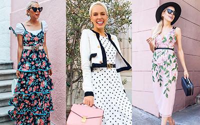 12 женственных образов в платьях из блога Lombard & Fifth