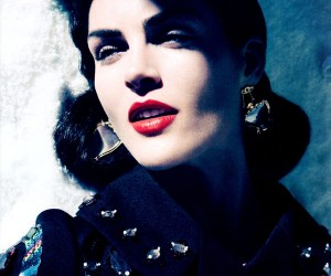 Hilary Rhoda для журнала Harper's Bazaar US