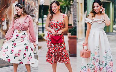 Женственные образы в платьях и юбках от очаровательной Natalie Atick-Nunez