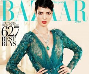 Hanaa Ben Abdesslem на страницах Harper's Bazaar Arabia