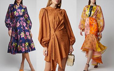Модный пышный рукав на платьях