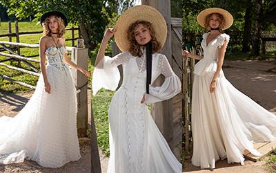 Свадебные платья ручной работы из натурального льна и шелка от Rara Avis Group
