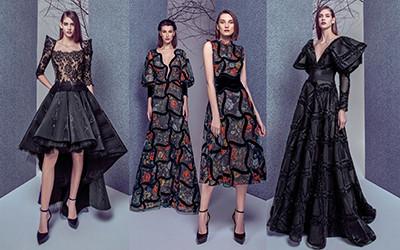 Шикарные вечерние платья и костюмы Gemy Maalouf осень-зима 2019-2020