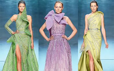 Вечерние платья-рыбки из коллекции Ziad Nakad Haute Couture 2020