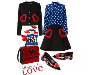 Модные наряды и аксессуары к 14 февраля