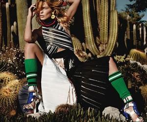 Daria Werbowy на страницах Vogue UK