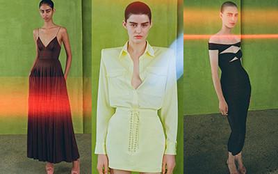 Атласные вечерние платья и костюмы Alex Perry Resort 2022