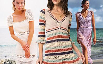 Выбираем модные вязаные платья в технике кроше на лето 2020