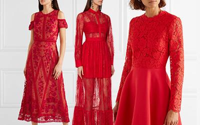 12 красных кружевных платьев на 2019 год