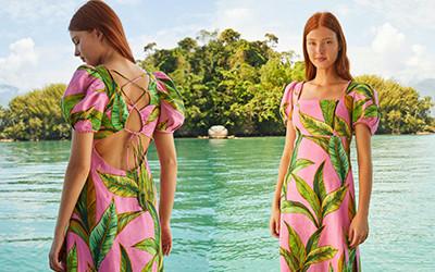 Яркая пляжная женская одежда Farm Rio лето 2021