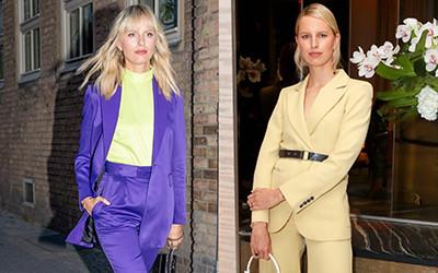 12 образов модели Karolina Kurkova в брючных костюмах