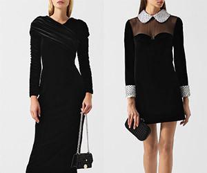 Выбираем черное бархатное платье
