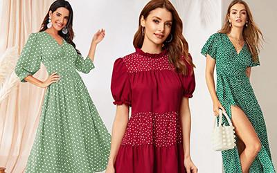 Модные платья в горошек на весну не дороже 25$