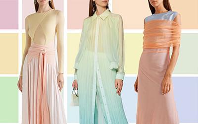 Красивые летние образы в одежде в пасте́льных тонах