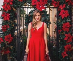 Красное платье - 15 примеров на модных блогерах