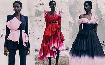 Эффектные платья и костюмы из круизной коллекции Alexander McQueen 2021